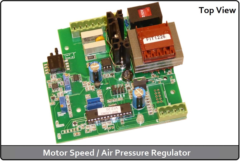 Motor Speed / Air Pressure Regulator (Top View)